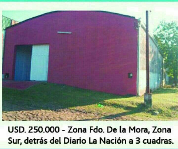 Terreno con tinglado y pequeña casa Fernando de la Mora zona Sur