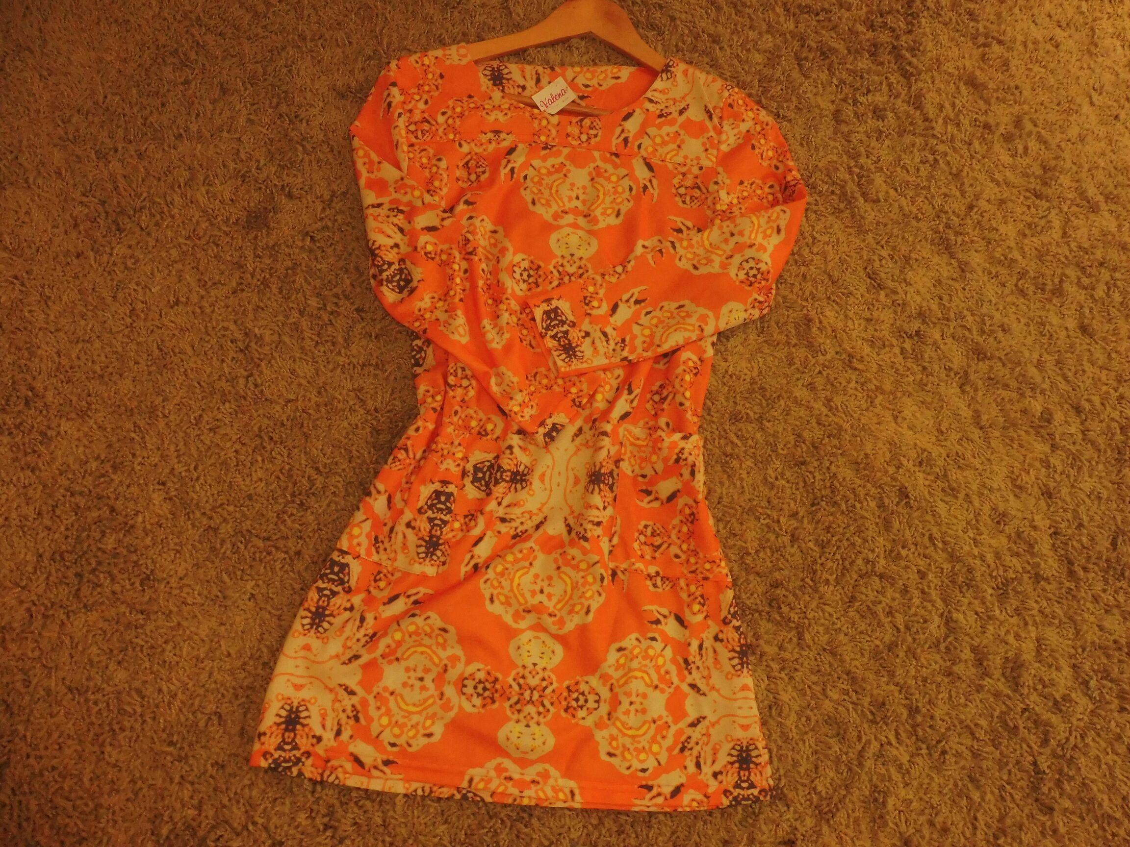 Vestido boho naranja