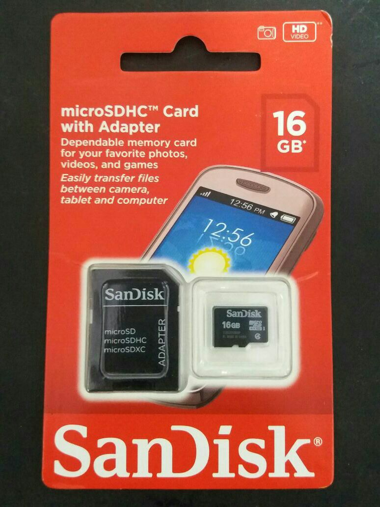 Memory SD de 16 gb