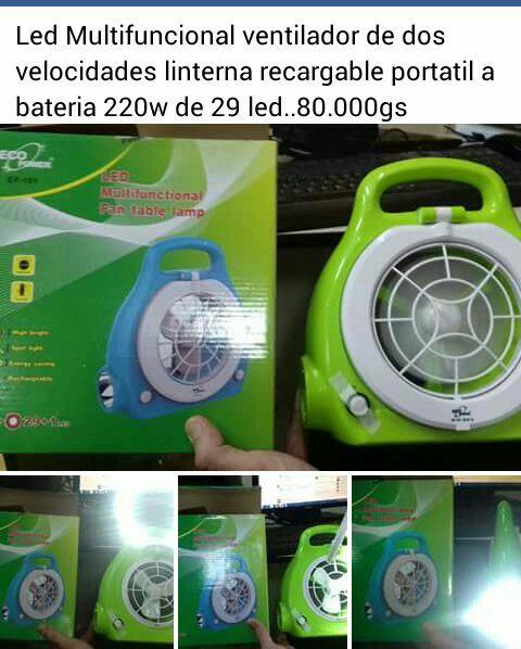 Mini ventilador portatil a bateria