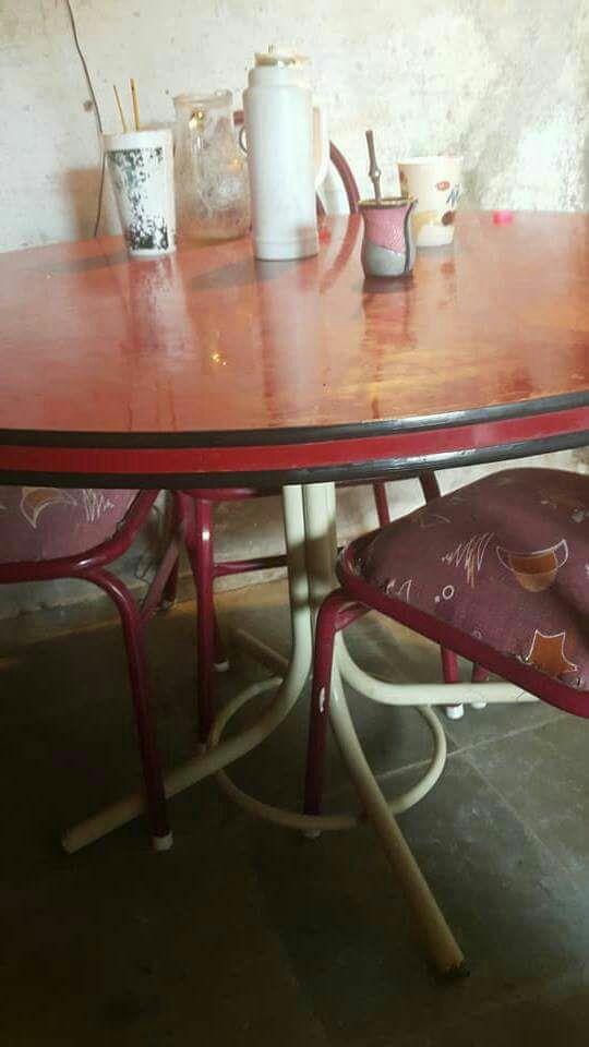 Juego de comedores mesa redonda con 6 sillas acolchada marian - Mesa redonda con sillas ...