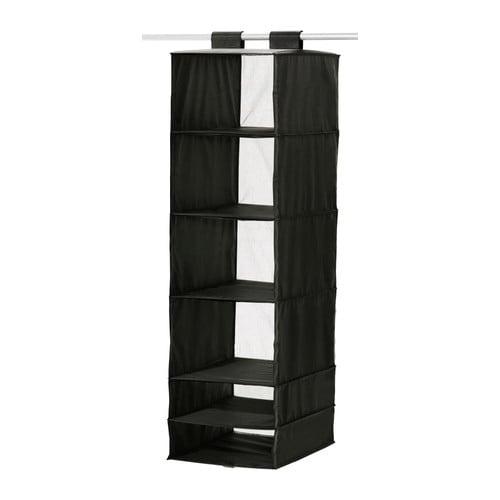 Almacenaje colgante con compartimentos negro SKUBB