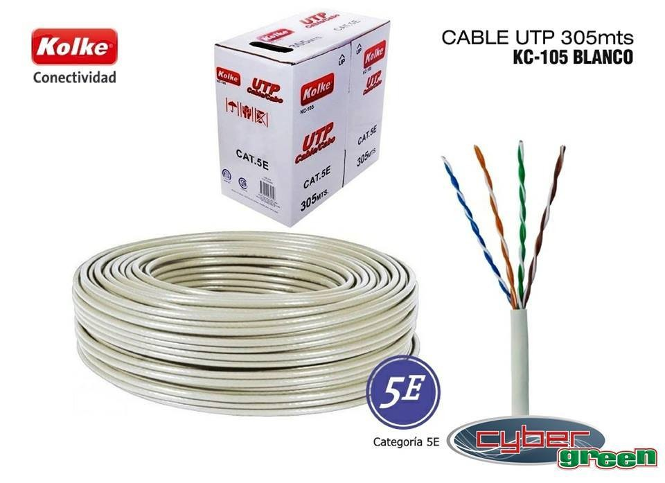 Cable UTP Kolke CAT 5E rollo de 305 metros