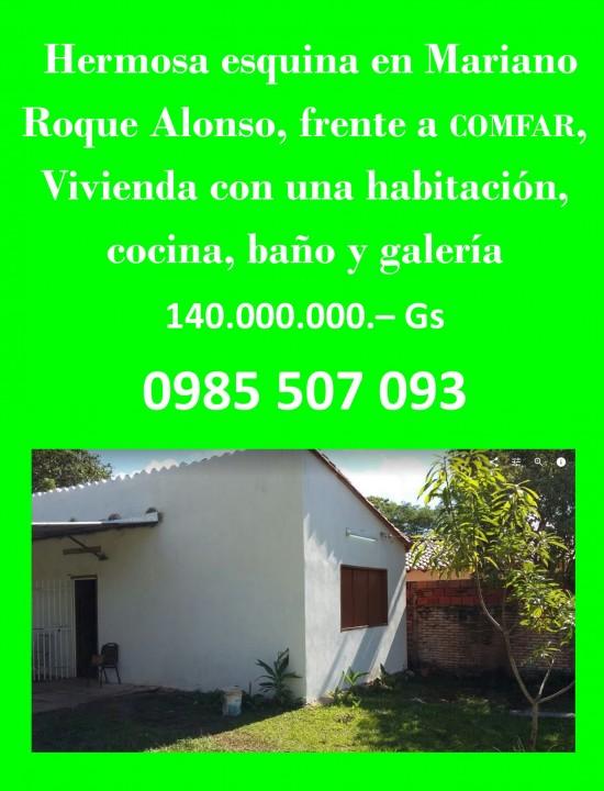 Casa en esquina en Mariano Roque Alonso