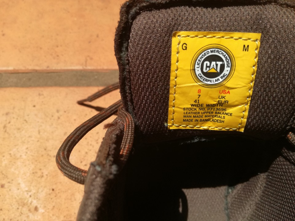 Zapatón Caterpillar calce 41