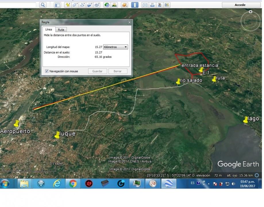 675 hectáreas a 22 km del Aeropuerto, ruta Luque San Ber