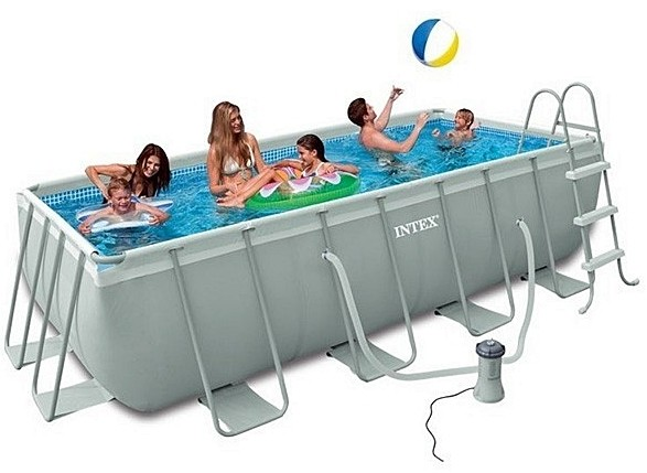Piscinas INTEX Prisma Rectangular, mide 4 x 2 x 1 m.