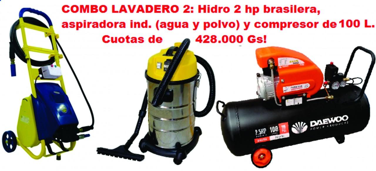 Lavadero Hidro Aspiradora y Compresor a cuotas
