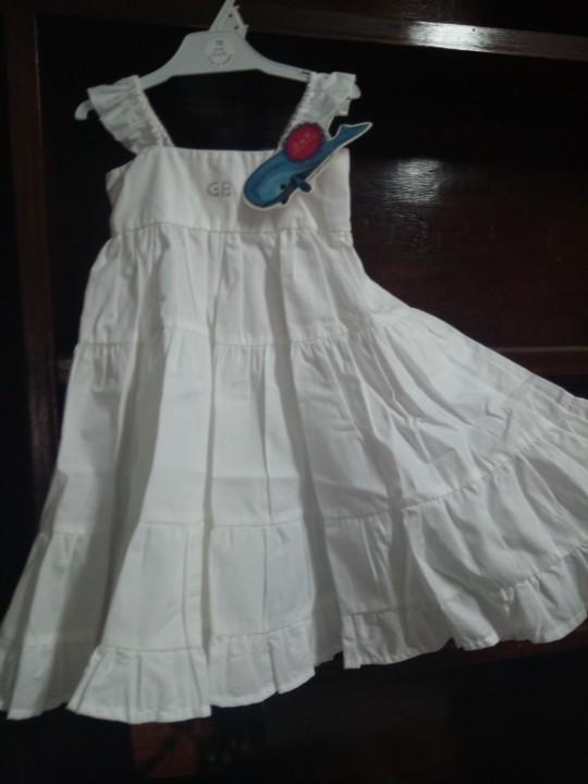 Vestido Blanco, 2 años, G de B