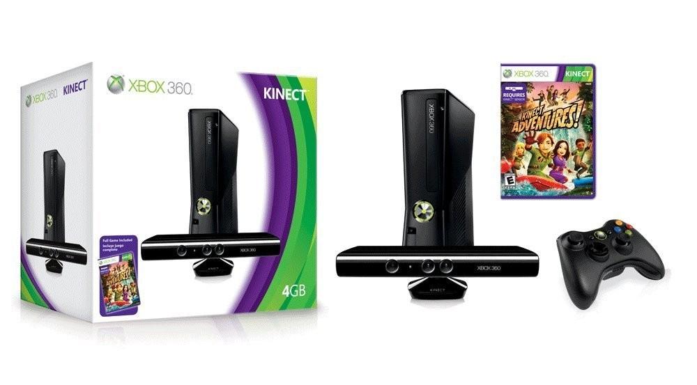 Xbox 360 con Kinect, 2 controles y 1 juego