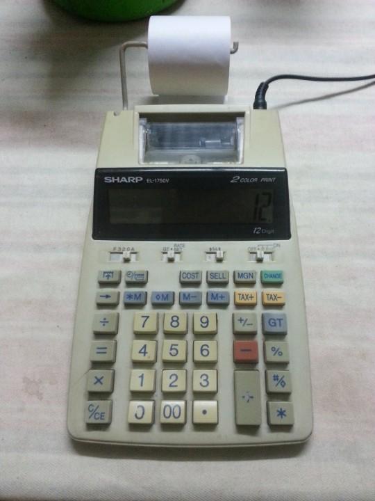 Calculadora con impresora