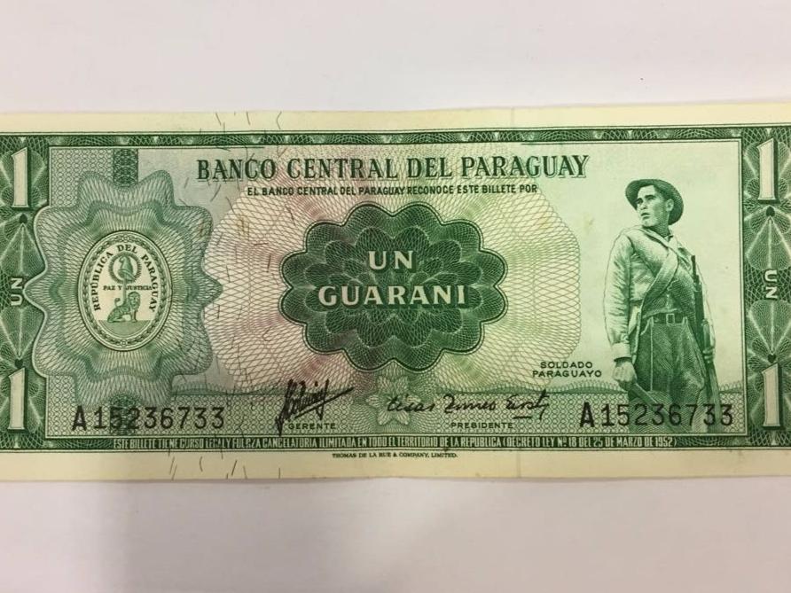 Billete de 1 Guaraní de colección