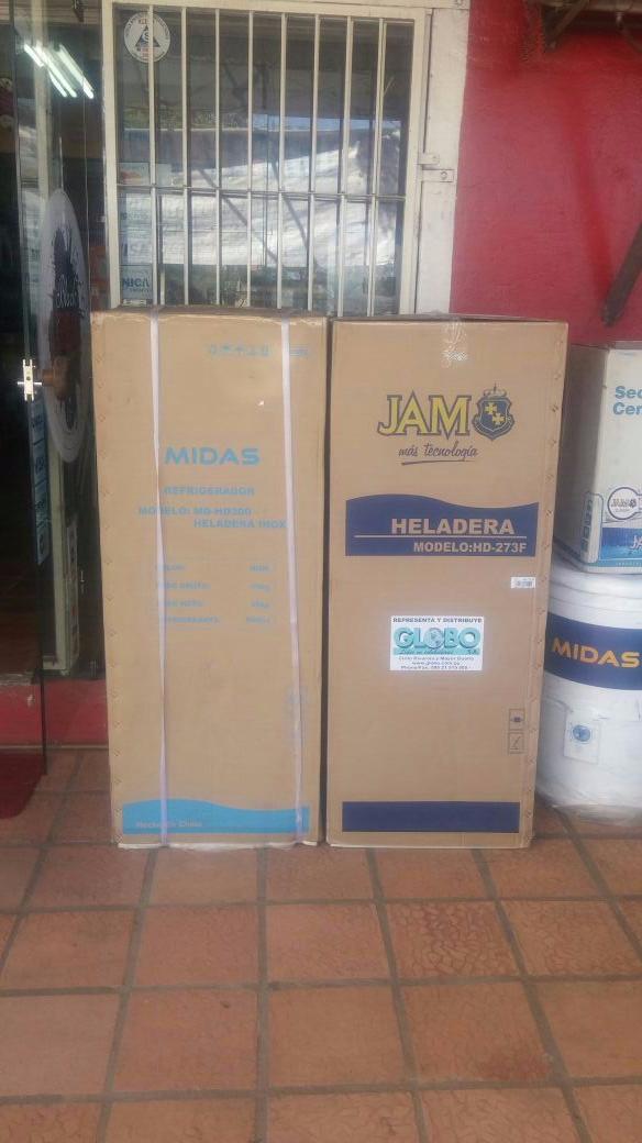 Heladera Midas inox 300 litros 2 puertas