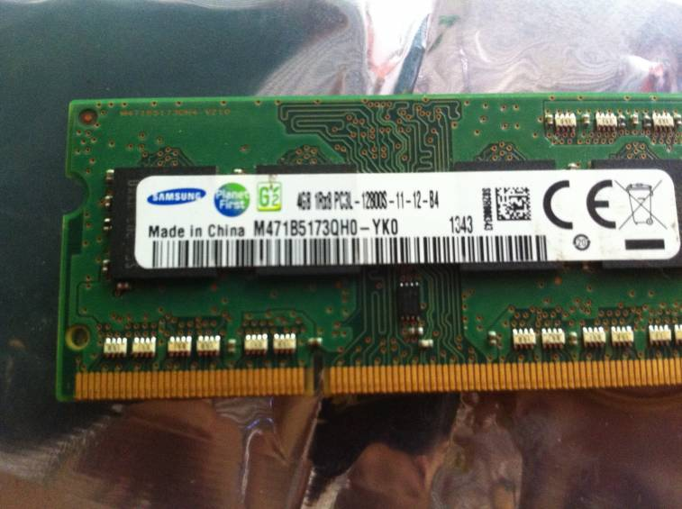 Memoria ram 4 gb DDR3 Samsung para laptop