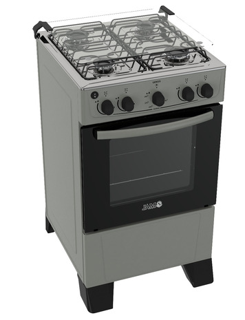 Cocina A Gas Jam Luxus 4 H - 0