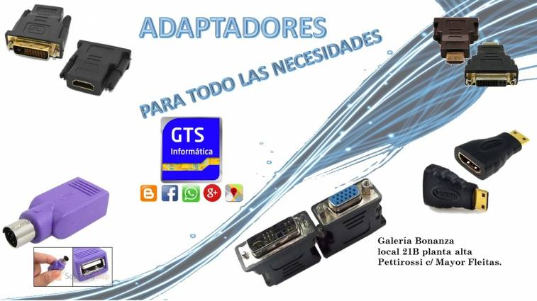 Adaptadores especiales para Notebook