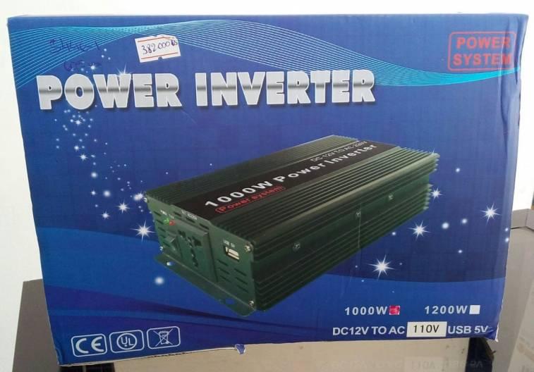 Conversor inversor transformador de 12V a 220 de 1000W para auto