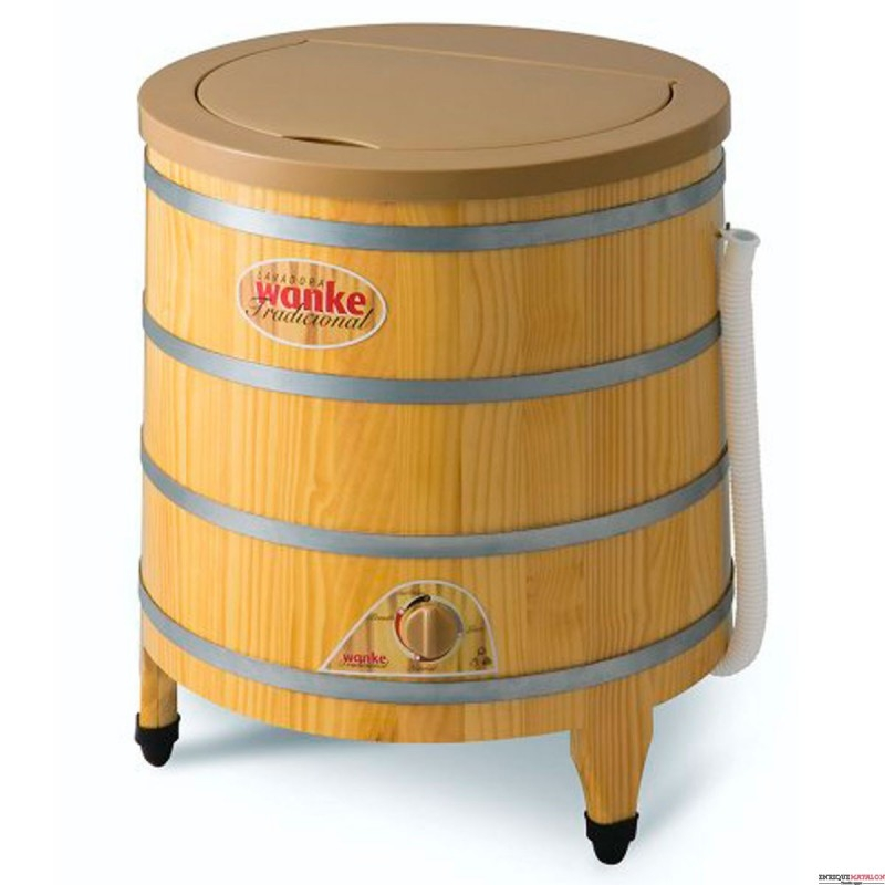 Lavarropa Wanke 5kg de madera