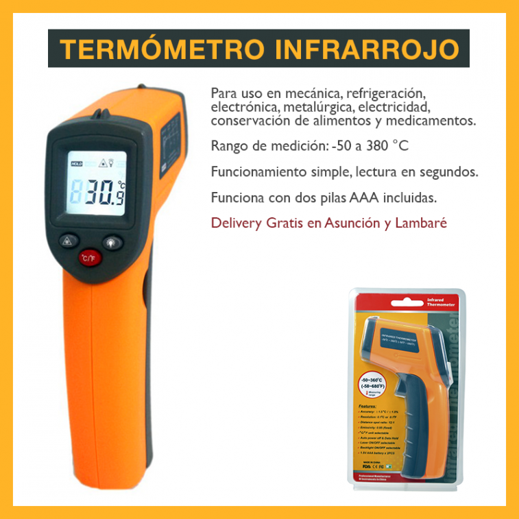 Termómetro láser a distancia