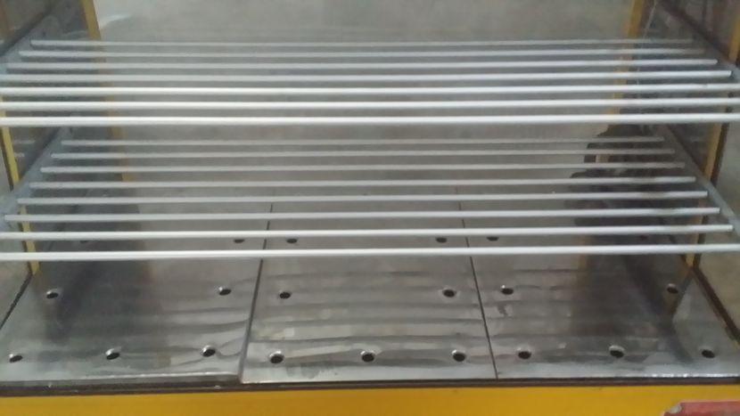 Mostrador exhibidor térmico caliente de 1,20 x 1,00