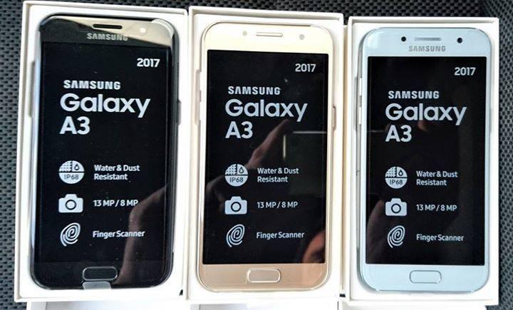 Samsung Galaxy A3 2017 sumergible